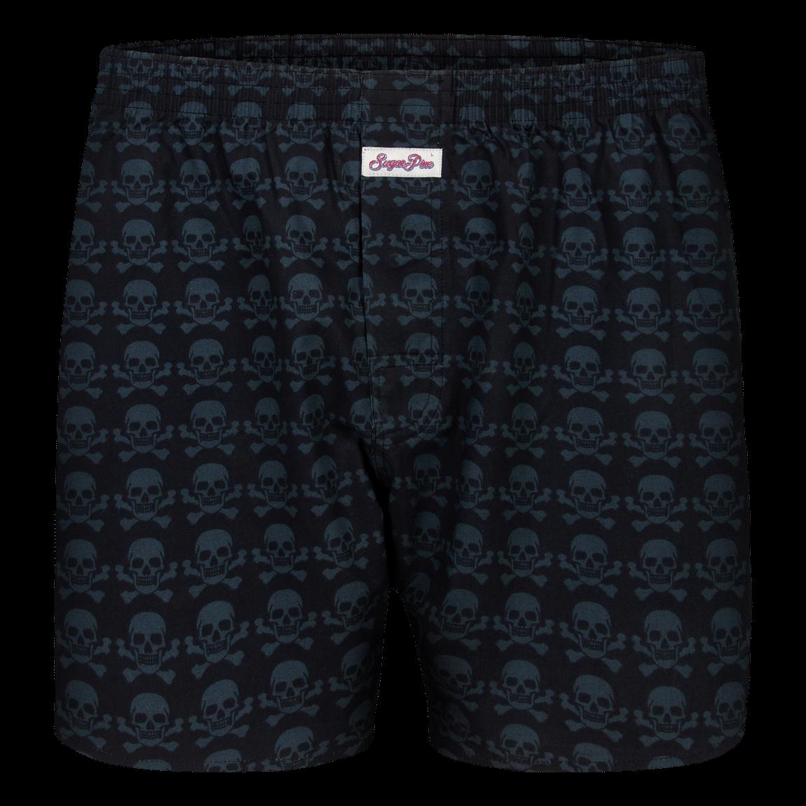 "Sugar Pine Print-Boxershorts ""Skulls"""